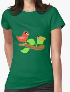 Hungry Birds Womens Fitted T-Shirt