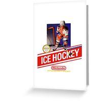 NES Ice Hockey  Greeting Card