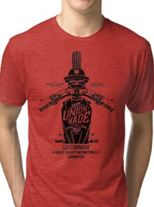 Custom Made, Union Made Motorcycle Tri-blend T-Shirt