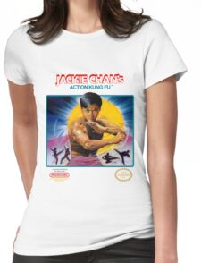 NES Jackie Chan Action Kung Fu  Womens Fitted T-Shirt