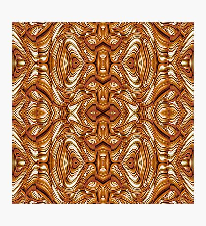 Arabesque brown pattern Photographic Print