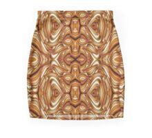Arabesque brown pattern Mini Skirt
