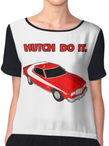 Hutch Do It Red Text. Chiffon Top