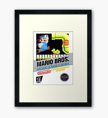 NES The Original Mario Brothers  Framed Print