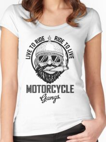 Live to ride motorcycle gangs Women's Fitted Scoop T-Shirt