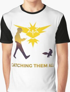 Pokemon Go - Catching Them All Team Instinct Eevee Graphic T-Shirt