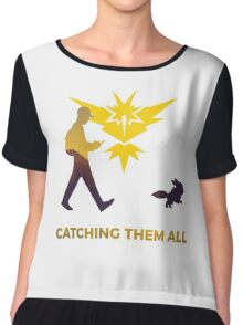 Pokemon Go - Catching Them All Team Instinct Eevee Chiffon Top
