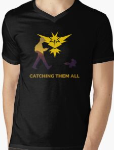 Pokemon Go - Catching Them All Team Instinct Eevee Mens V-Neck T-Shirt