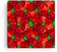 Vegetables pattern composition Canvas Print