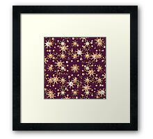 Flowers and Balls Pattern Framed Print