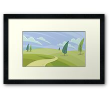 Green hill landscape  Framed Print