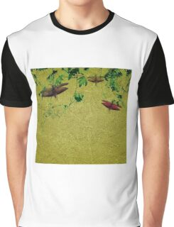 Plants and Insects Composition Graphic T-Shirt