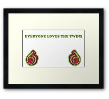 Everyone Loves The Twins 2 Framed Print