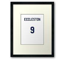 Doctor Who Sports Shirt- ECCLESTON Framed Print