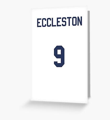 Doctor Who Sports Shirt- ECCLESTON Greeting Card