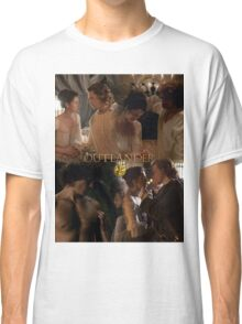 Outlander Wedding collage/Jamie & Claire Fraser/ Classic T-Shirt