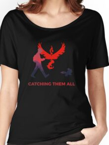 Pokemon Go - Catching Them All Team Valor Eevee Women's Relaxed Fit T-Shirt
