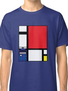 Dr. Who Composition in Red, Blue, and Yellow Classic T-Shirt