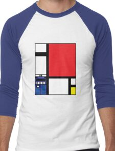 Dr. Who Composition in Red, Blue, and Yellow Men's Baseball ¾ T-Shirt