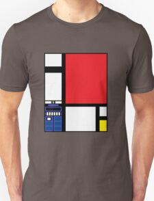 Dr. Who Composition in Red, Blue, and Yellow Unisex T-Shirt