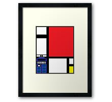 Dr. Who Composition in Red, Blue, and Yellow Framed Print
