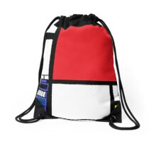 Dr. Who Composition in Red, Blue, and Yellow Drawstring Bag
