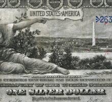 One U.S. Dollar Bill - 1896 Educational Series  Sticker