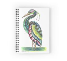 Ornate Heron Spiral Notebook