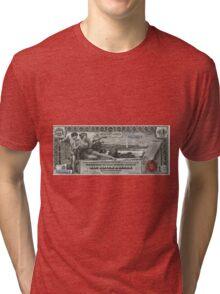 One U.S. Dollar Bill - 1896 Educational Series  Tri-blend T-Shirt