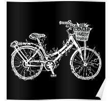 Floral Bike Poster