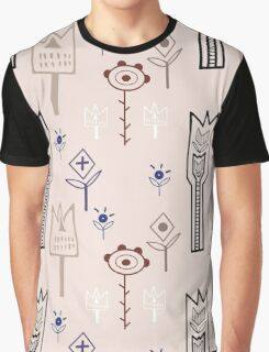 Delicate tribal flowers Graphic T-Shirt