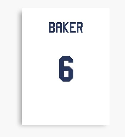 Doctor Who Sports Shirt- BAKER (Colin/6th Doctor) Canvas Print