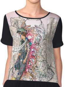 Cool abstract art rapper old school Chiffon Top