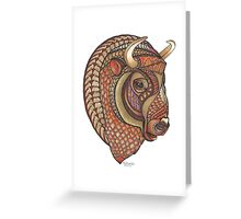 Ornate Buffalo Greeting Card
