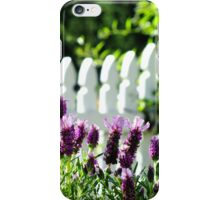 Lavender and Picket Fences iPhone Case/Skin