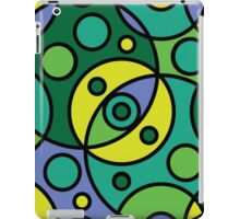Colourful, Abstract, Retro, Geometric, Circles iPad Case/Skin