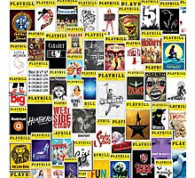 Playbill Collage Photographic Print