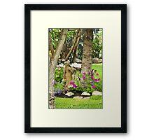 Garden Girl In Digital Oil  Framed Print