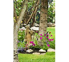 Garden Girl In Digital Oil  Photographic Print