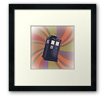 Tardis in the Time Vortex Framed Print