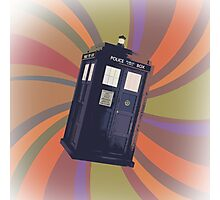 Tardis in the Time Vortex Photographic Print