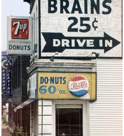 Brains 25 Cents Sticker