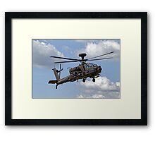 British Army Air Corps WAH-64D Longbow Apache AH1 Helicopter Framed Print