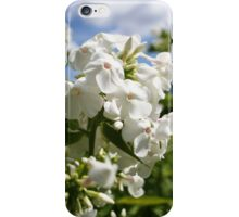 White flower and blue sky landscape iPhone Case/Skin