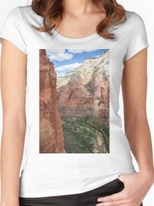 Zion Valley at Zion National Park Women's Fitted Scoop T-Shirt