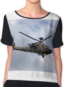 British Army Air Corps WAH-64D Longbow Apache AH1 Helicopter Chiffon Top