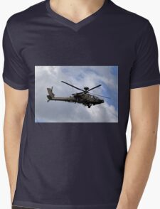 British Army Air Corps WAH-64D Longbow Apache AH1 Helicopter Mens V-Neck T-Shirt