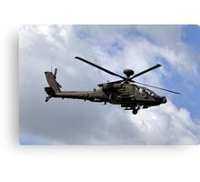 British Army Air Corps Apache AH1 Helicopter Canvas Print
