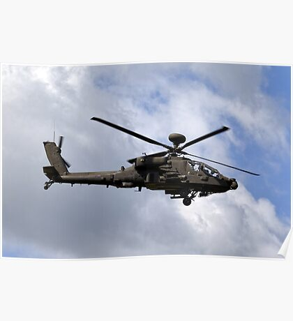 British Army Air Corps Apache AH1 Helicopter Poster