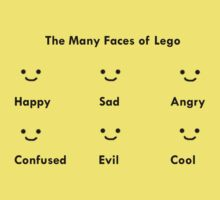 the many faces of lego by Peter Kraakevik
